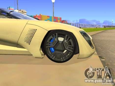 Bertone Mantide for GTA San Andreas inner view