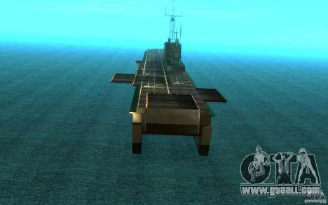 New Aircraft carrier for GTA San Andreas right view