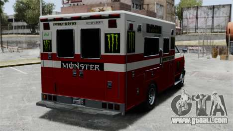 First aid Monster Energy for GTA 4 right view