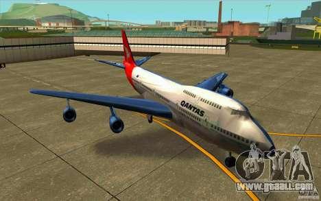 Boeing Qantas 747-400 for GTA San Andreas