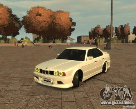 Bmw 535i (E34) tuning for GTA 4 left view