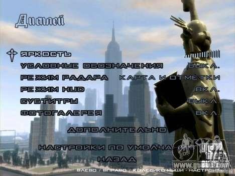Menu like in GTA IV for GTA San Andreas second screenshot