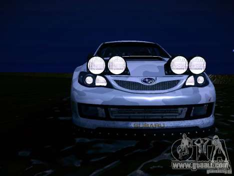 Subaru Impreza WRX STi N14 Rallycross for GTA San Andreas bottom view