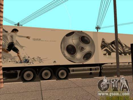 Trailer Adidas for GTA San Andreas side view