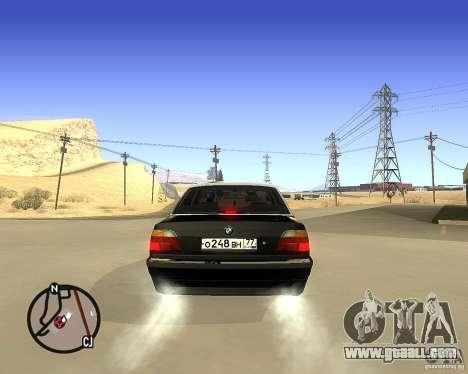 BMW 740il e38 for GTA San Andreas back left view