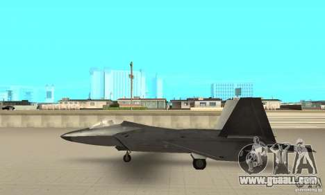 F-22 Black for GTA San Andreas back left view
