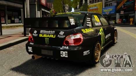 Subaru Impreza WRX STI GD Gymkhana Ken Block for GTA 4 back left view