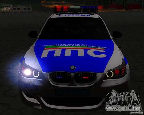 BMW M5 E60 Police for GTA San Andreas upper view
