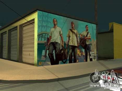 Poster Of GTA V for GTA San Andreas