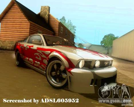 Ford Mustang GT 2005 Tunable for GTA San Andreas wheels