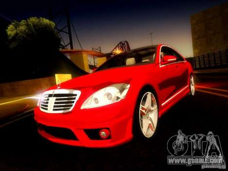 Mercedes-Benz S65 AMG 2007 for GTA San Andreas side view
