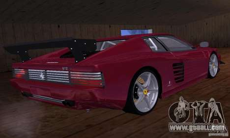 Ferrari 512 TR for GTA San Andreas bottom view