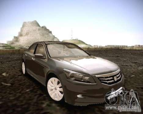 Honda Accord 2011 for GTA San Andreas right view