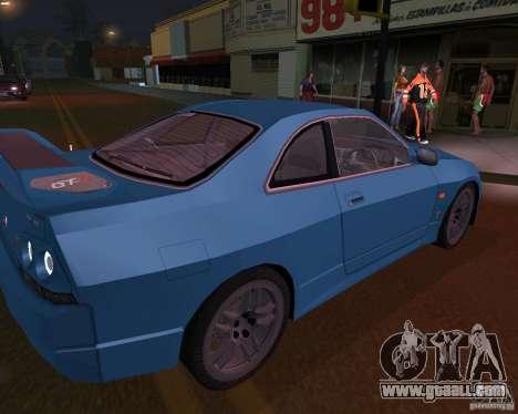 Nissan Skyline GT-R R-33 for GTA San Andreas left view