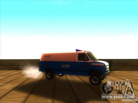 Chevrolet Van G20 BLUE NYPD 1990 for GTA San Andreas right view