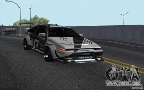 Toyota Corolla AE86 Shift 2 for GTA San Andreas back left view