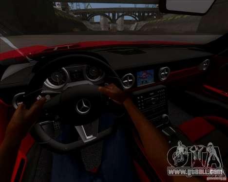 Mercedes-Benz SLS AMG V12 TT Black Revel for GTA San Andreas back view