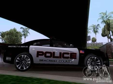 Dodge Charger SRT8 2011 V1.0 for GTA San Andreas back left view