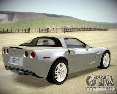 Chevrolet Corvette Z06 for GTA San Andreas back left view