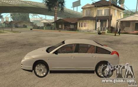Citroen C6 for GTA San Andreas left view