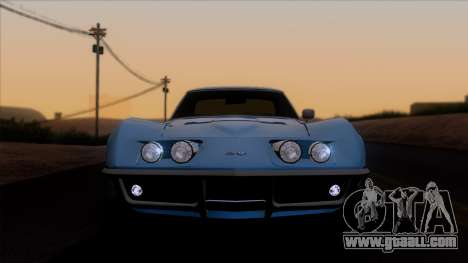 Chevrolet Corvette C3 Stingray T-Top 1969 v1.1 for GTA San Andreas back view