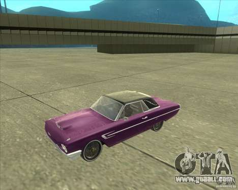 Ford Thunderbird 1964 for GTA San Andreas back left view