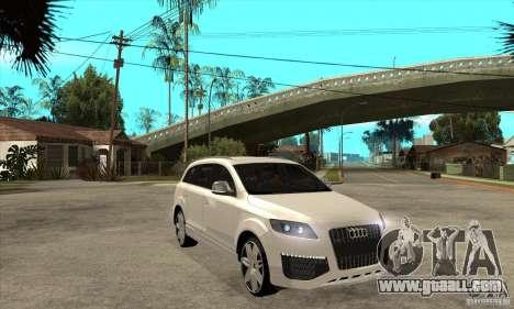 AUDI Q7 V12 V2 for GTA San Andreas back view