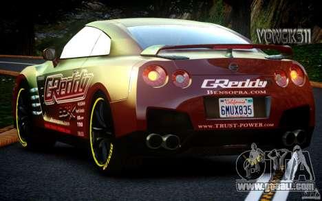 Nissan GT-R Black Edition GReddy for GTA 4 back view