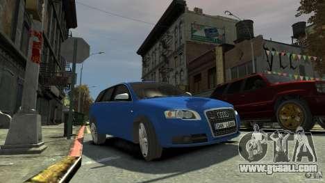 Audi S4 Avant for GTA 4 back left view