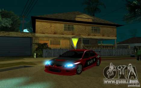 Mitsubishi Evo 8 Tuned for GTA San Andreas back view