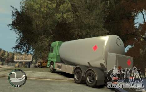 Mercedes Benz Actros Gas Tanker for GTA 4 upper view