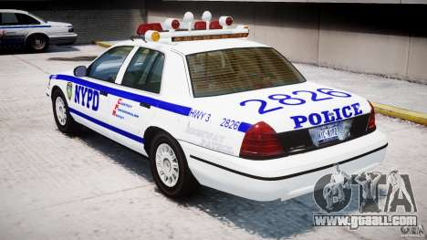 Ford Crown Victoria NYPD for GTA 4 right view