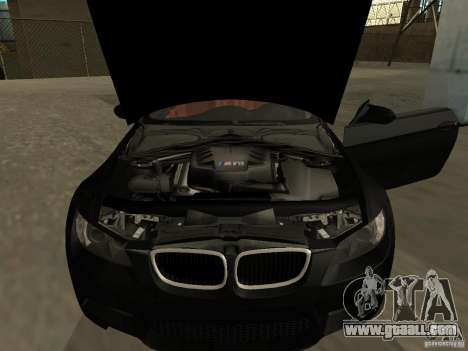 BMW M3 E92 Tunable for GTA San Andreas back left view