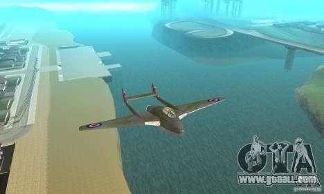 De-Havilland-Vampire ver 2.0 for GTA San Andreas inner view