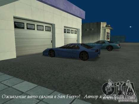 Working showroom in San Fierro v1 for GTA San Andreas