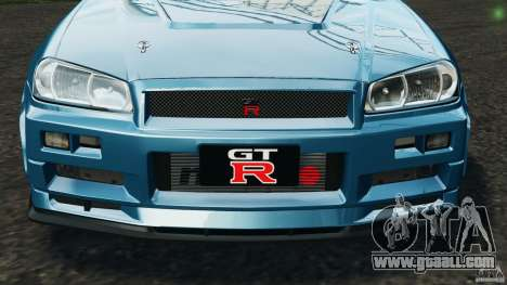 Nissan Skyline GT-R R34 2002 v1.0 for GTA 4 wheels