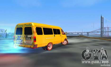 Gazelle 2705 Minibus for GTA San Andreas back left view