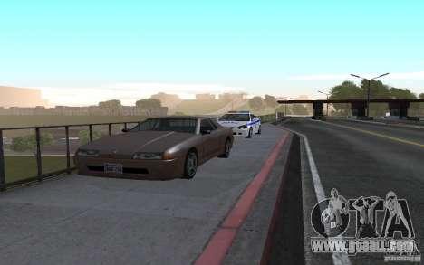 Police on the bridge of San Fiero_v. 2 for GTA San Andreas