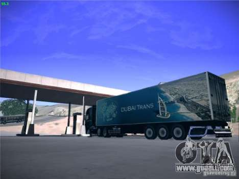 Trailer for Scania R620 Dubai Trans for GTA San Andreas back left view