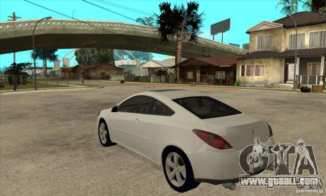 Pontiac G6 Stock Version for GTA San Andreas back left view