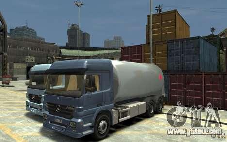 Mercedes Benz Actros Gas Tanker for GTA 4