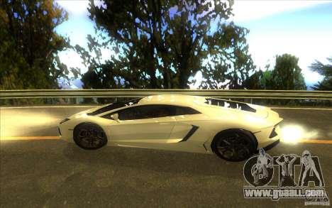 Lamborghini Aventador LP700-4 for GTA San Andreas inner view