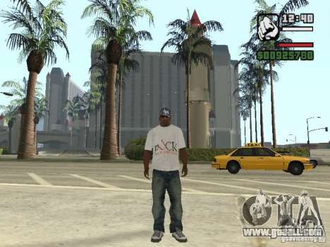 FUck T-shirt for GTA San Andreas