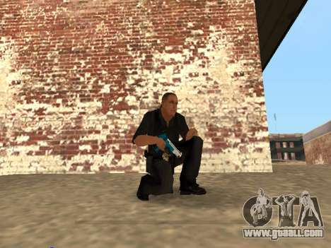 Chrome and Blue Weapons Pack for GTA San Andreas seventh screenshot