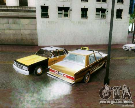 Chevrolet Impala 1986 Taxi Cab for GTA San Andreas upper view