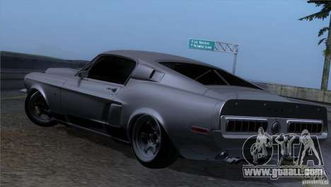 Shelby GT500 1969 for GTA San Andreas back view