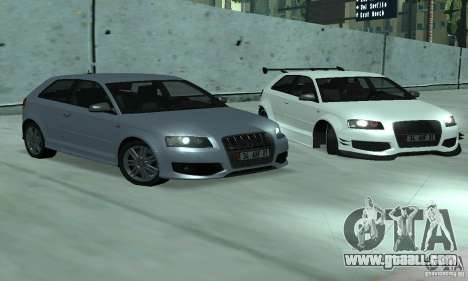 Audi S3 Full tunable for GTA San Andreas right view
