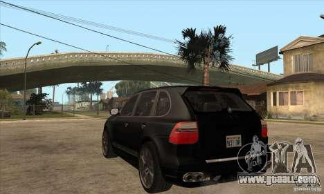 Porsche Cayenne 2010 for GTA San Andreas back left view