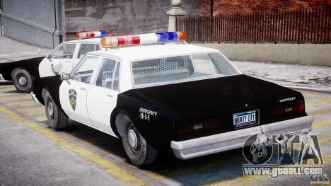 Chevrolet Impala Police 1983 for GTA 4 right view