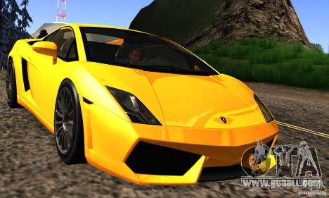 Lamborghini Gallardo LP560-4 for GTA San Andreas inner view